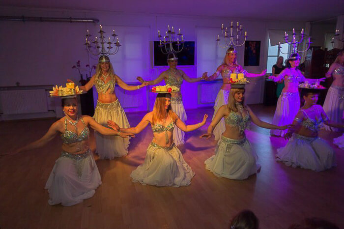 Leuchter- Kerzentablett Choreografie